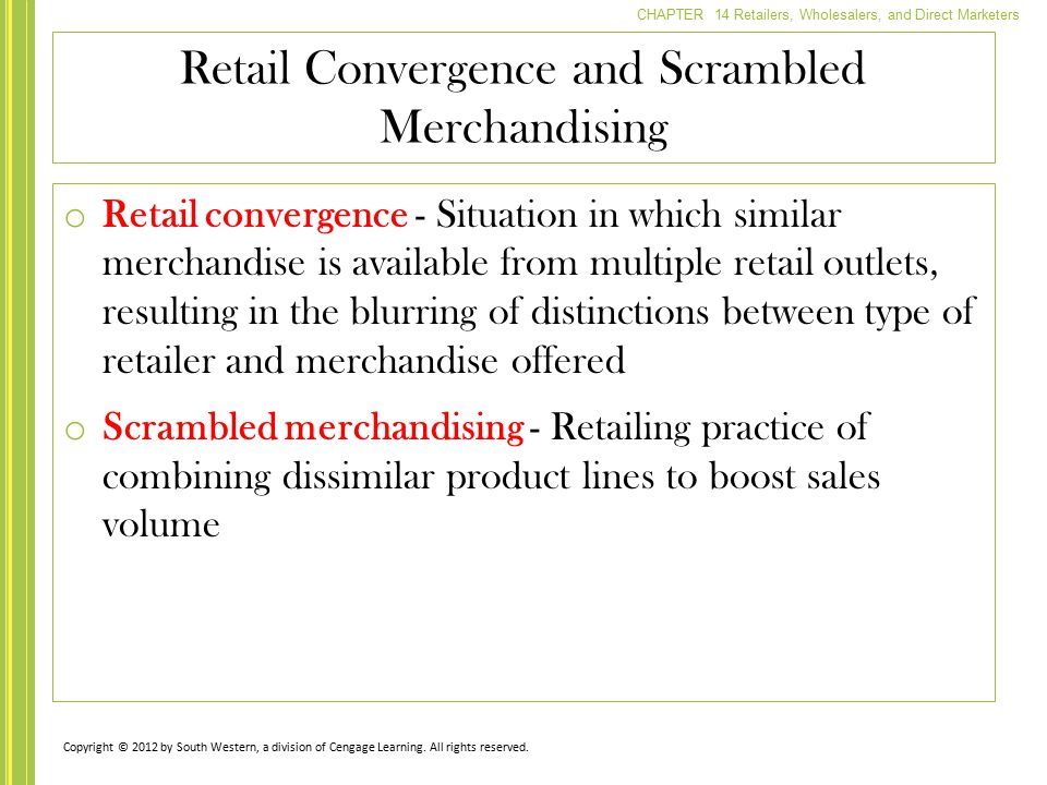 Retail Convergence and Scrambled Merchandising