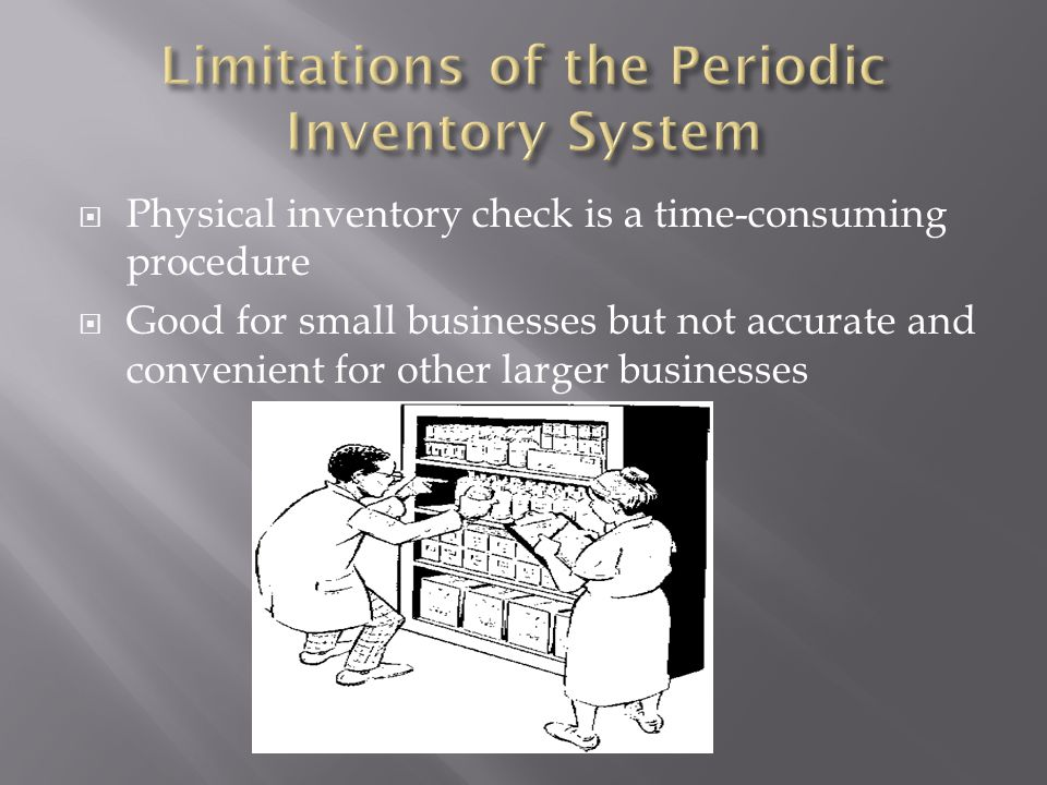 Limitations of the Periodic Inventory System