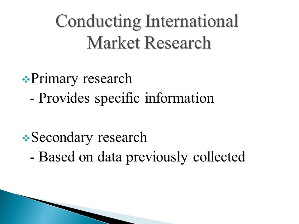 Conducting International Market Research