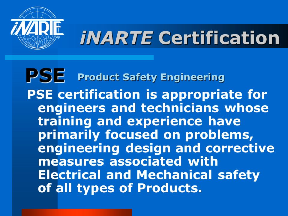 PSE iNARTE Certification