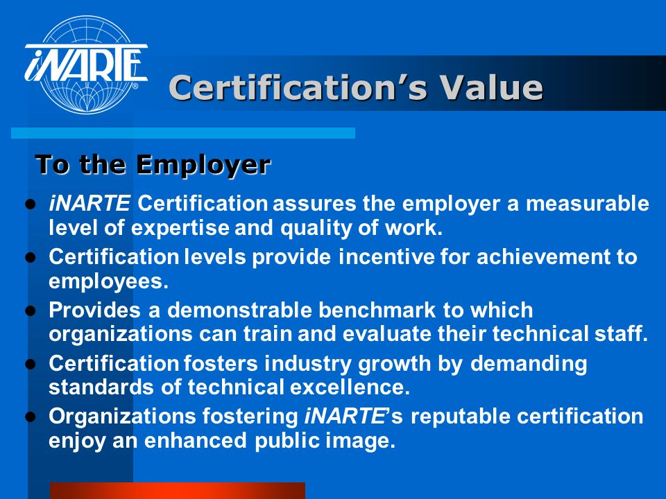 Certification's Value