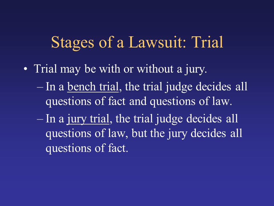 Stages of a Lawsuit: Trial