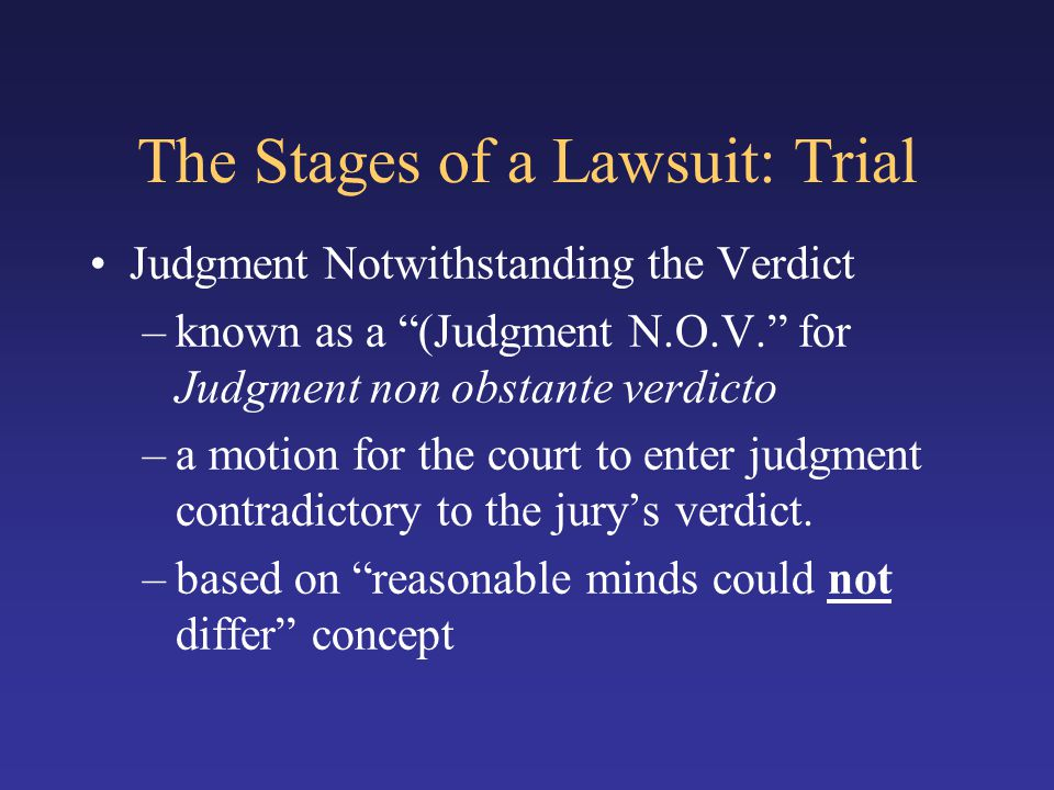 The Stages of a Lawsuit: Trial