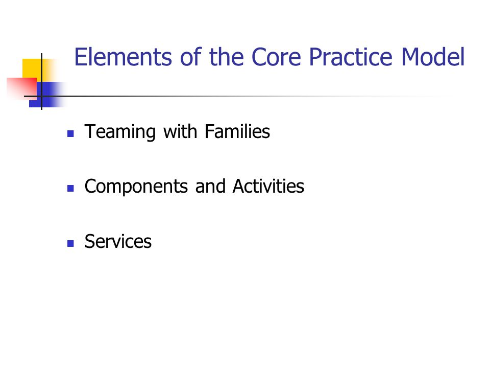 Elements of the Core Practice Model