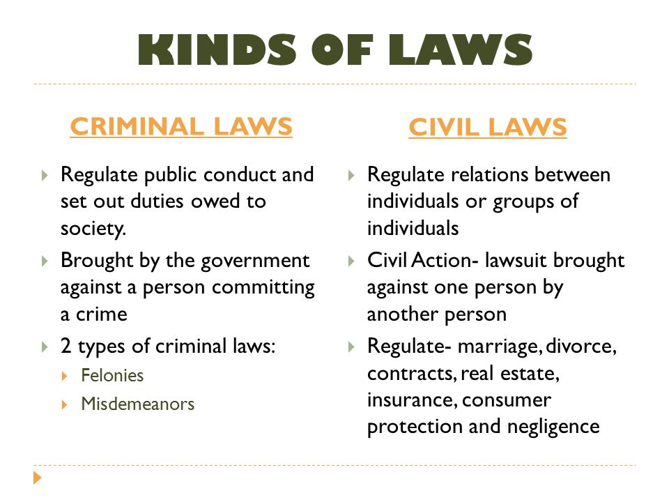 2 kinds of law
