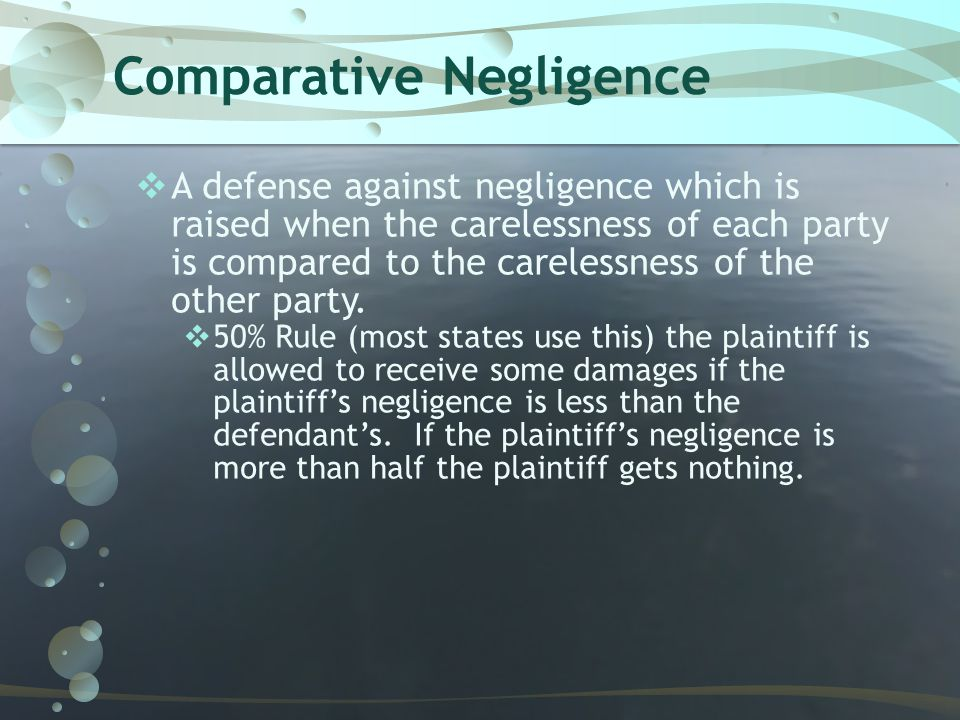 Comparative Negligence