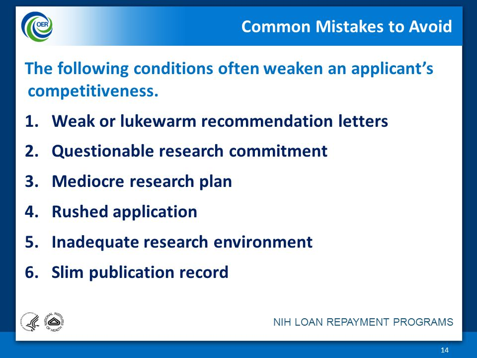 Nih loan repayment programs an overview division of loan repayment 14 common mistakes to avoid thecheapjerseys Gallery