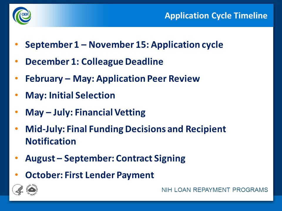 Nih loan repayment programs an overview division of loan repayment application cycle timeline thecheapjerseys Gallery