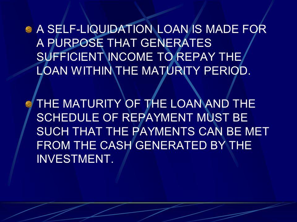 Self liquidating loans dating fast
