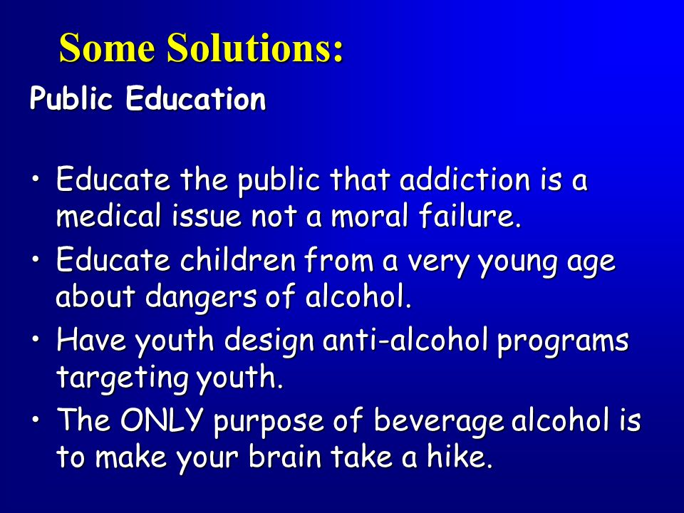 Some Solutions: Public Education