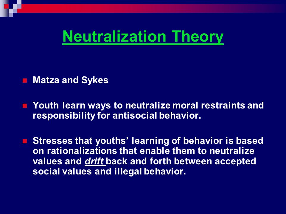 Neutralization Theory