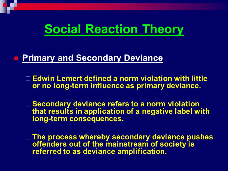 Social Reaction Theory