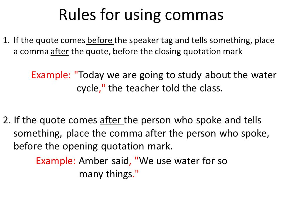 Learning Objective Use Commas Quotes In Writing Ppt Download