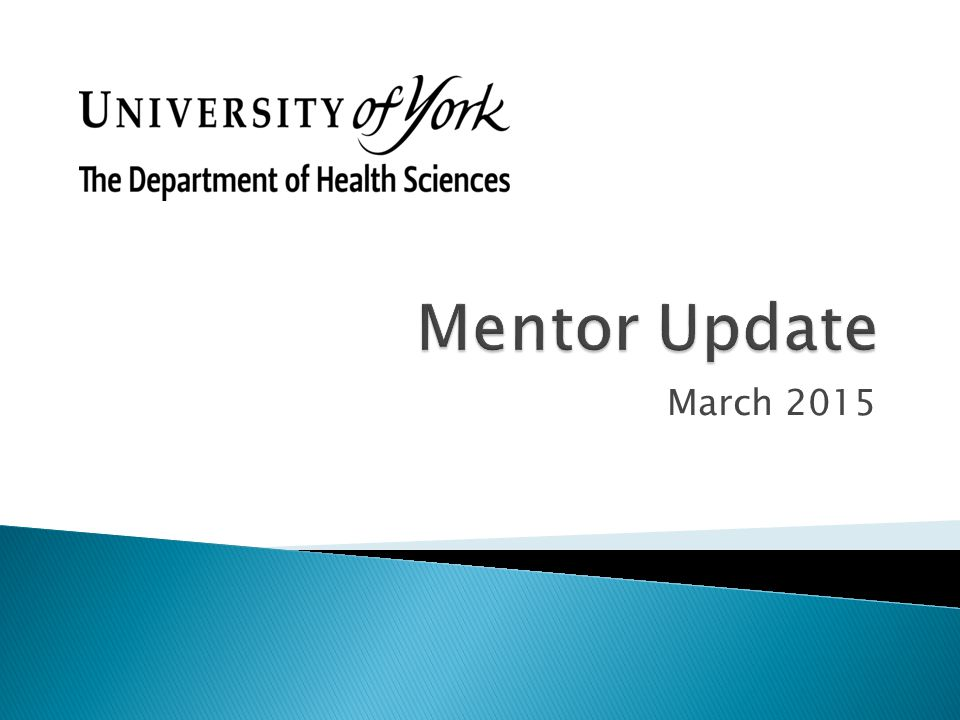 Mentor Update March 2015