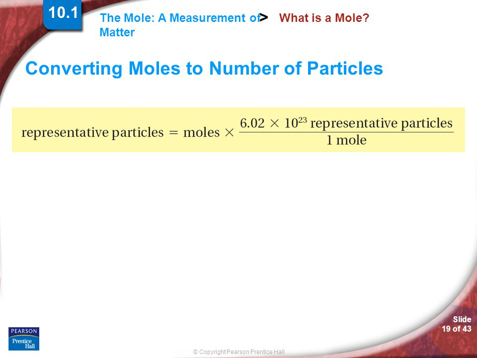 Converting Moles to Number of Particles