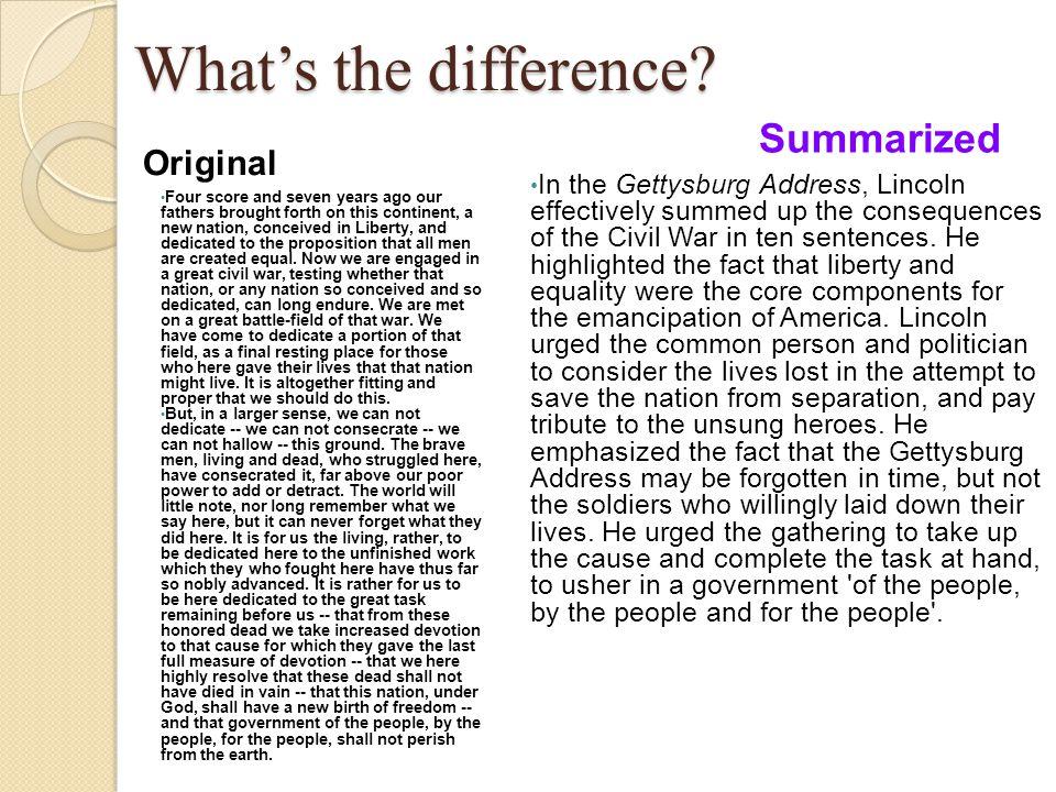 Mla Formatting I In Text Citation Ppt Download Gettysburg Addres Paraphrased Sentences