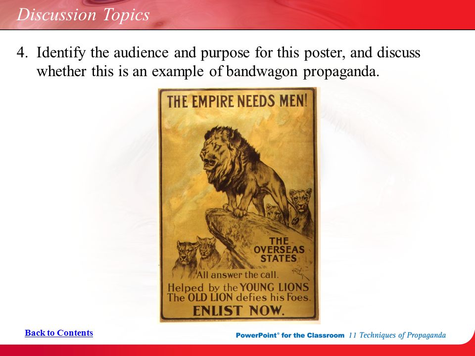 11 Techniques Of Propaganda Ppt Download