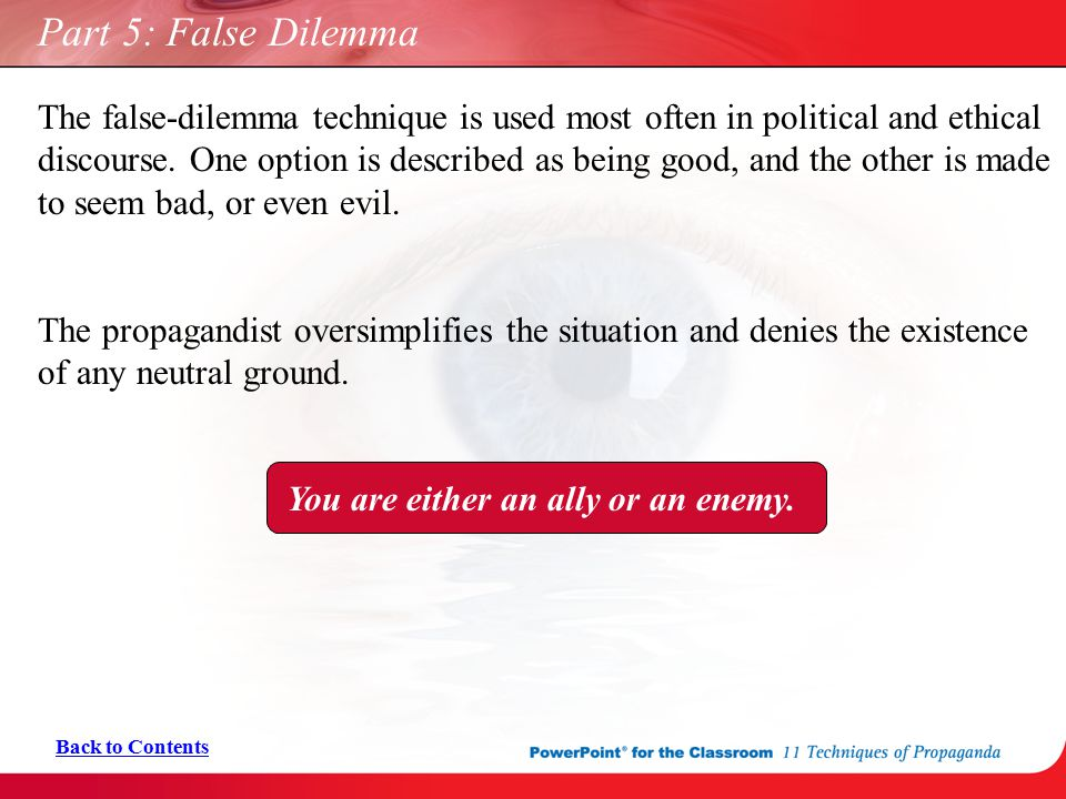 Part 5: False Dilemma