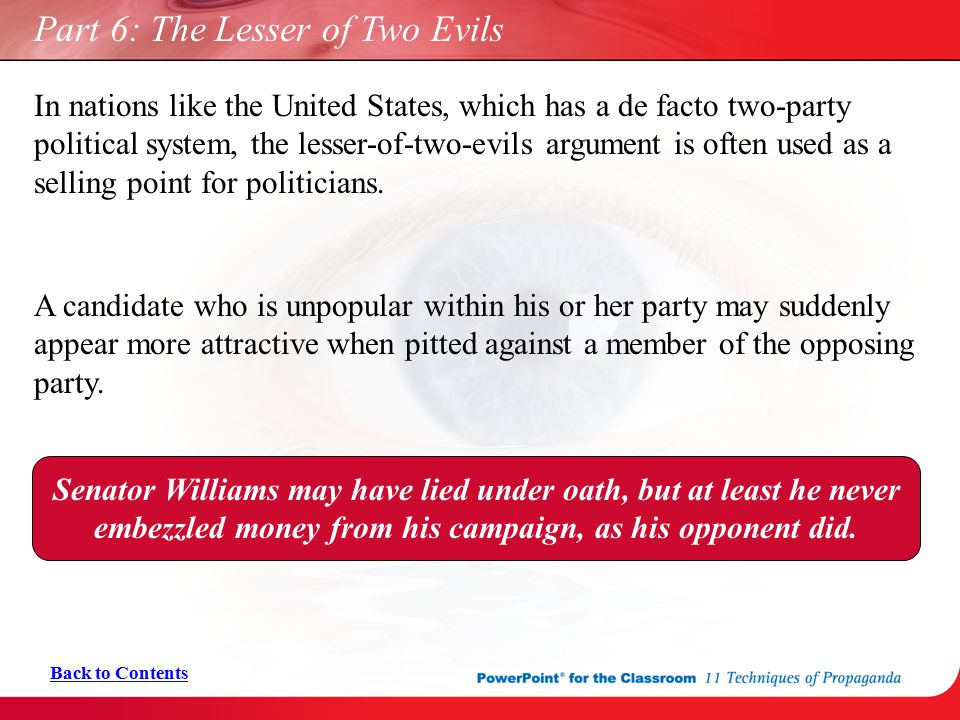 Part 6: The Lesser of Two Evils