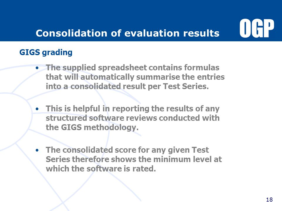 Consolidation of evaluation results