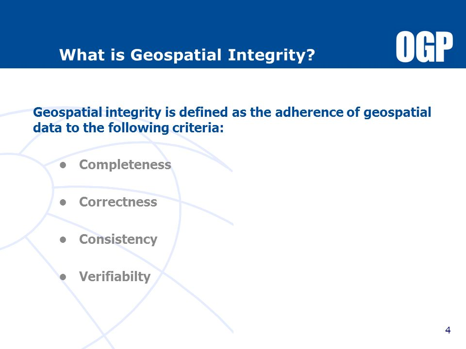 What is Geospatial Integrity