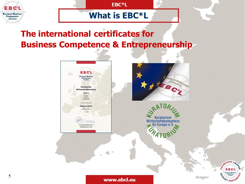 The international certificates for
