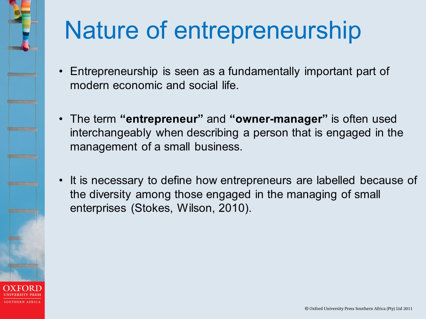 What is an entrepreneurial definition