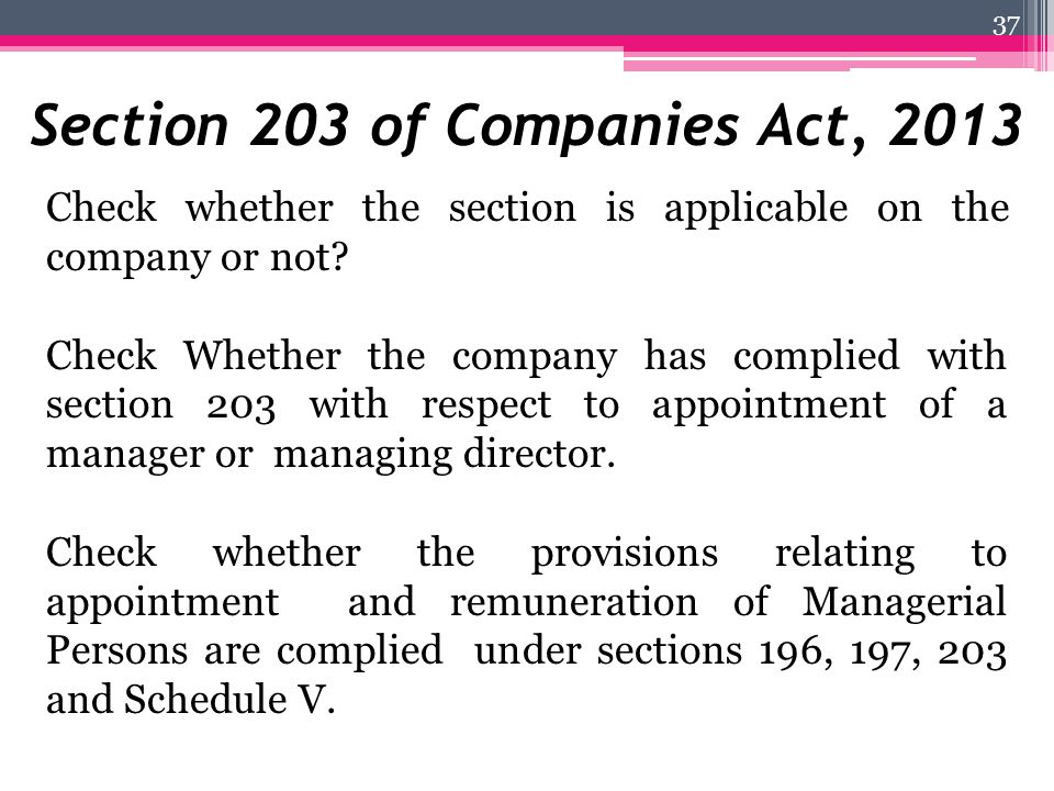 Section 203 of Companies Act, 2013