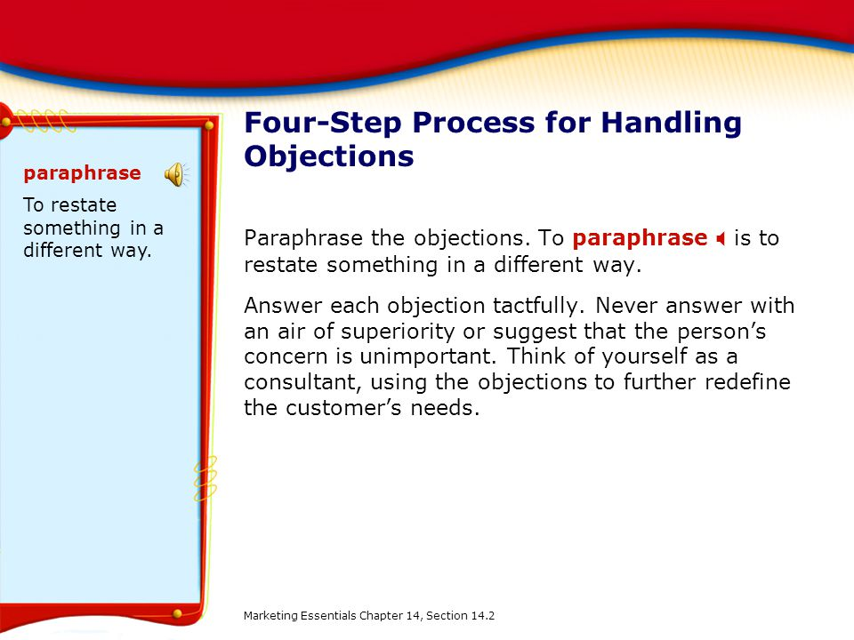 Four-Step Process for Handling Objections