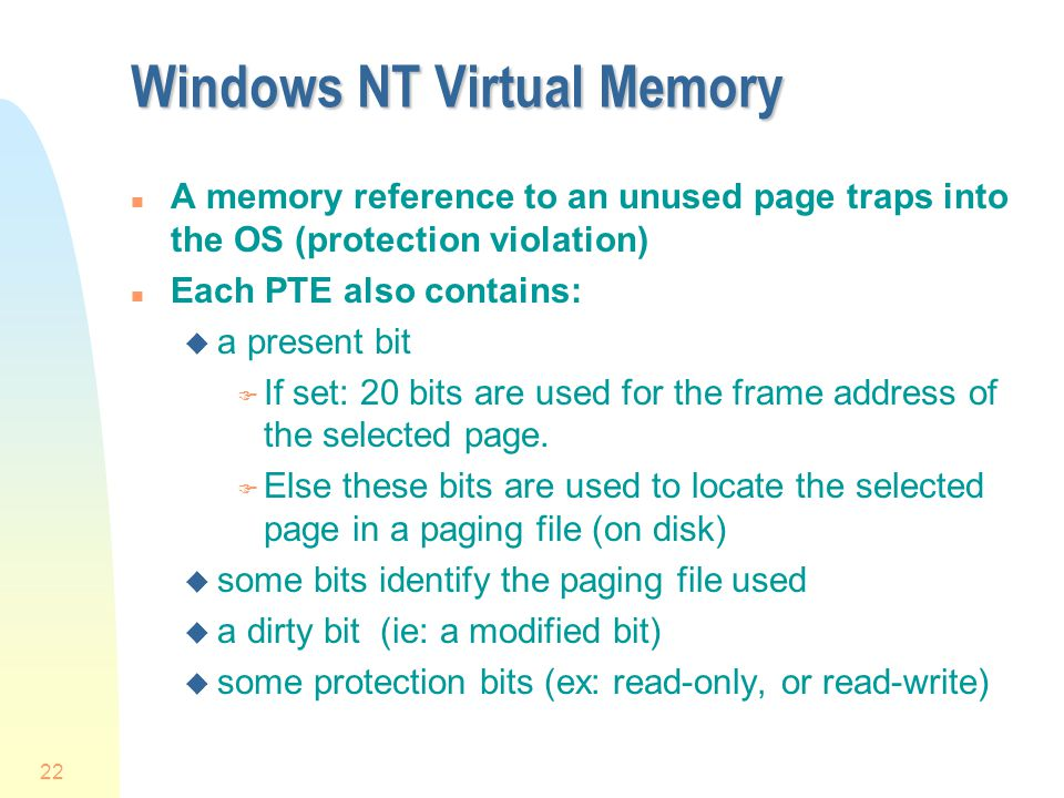 Windows NT Virtual Memory