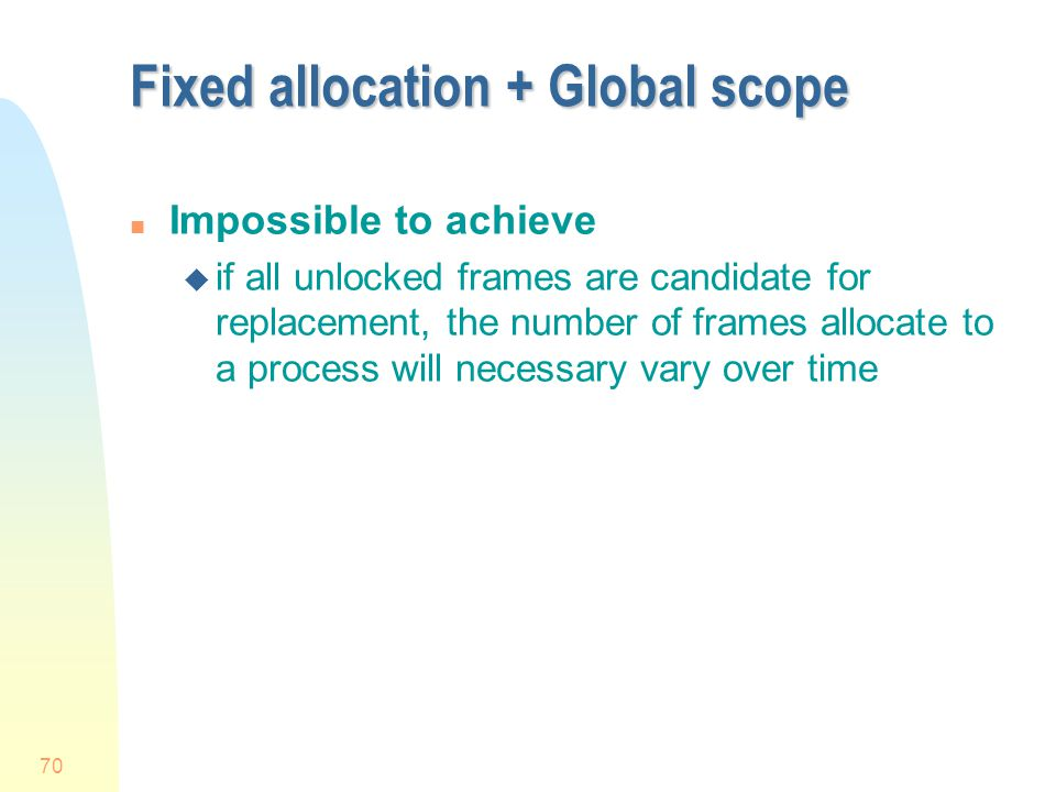 Fixed allocation + Global scope