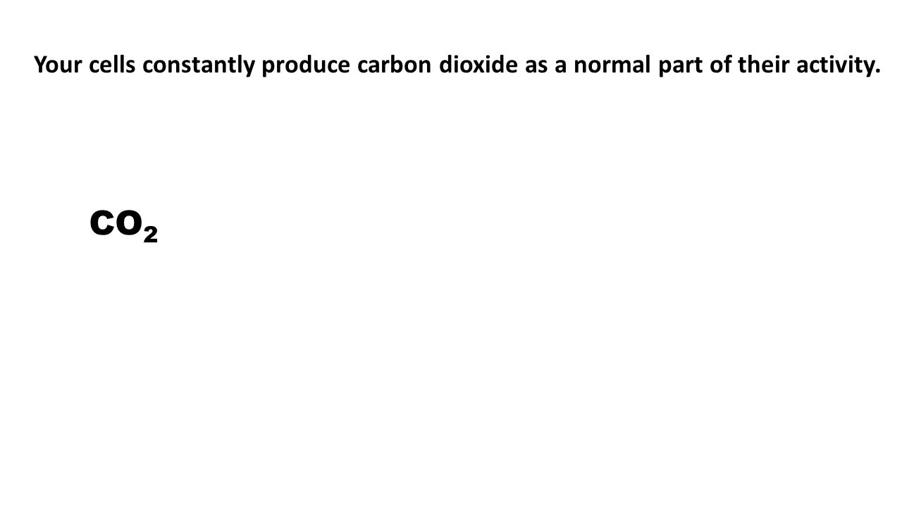 Your cells constantly produce carbon dioxide as a normal part of their activity.