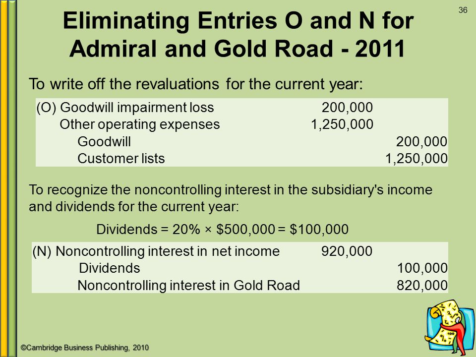 Eliminating Entries O and N for Admiral and Gold Road