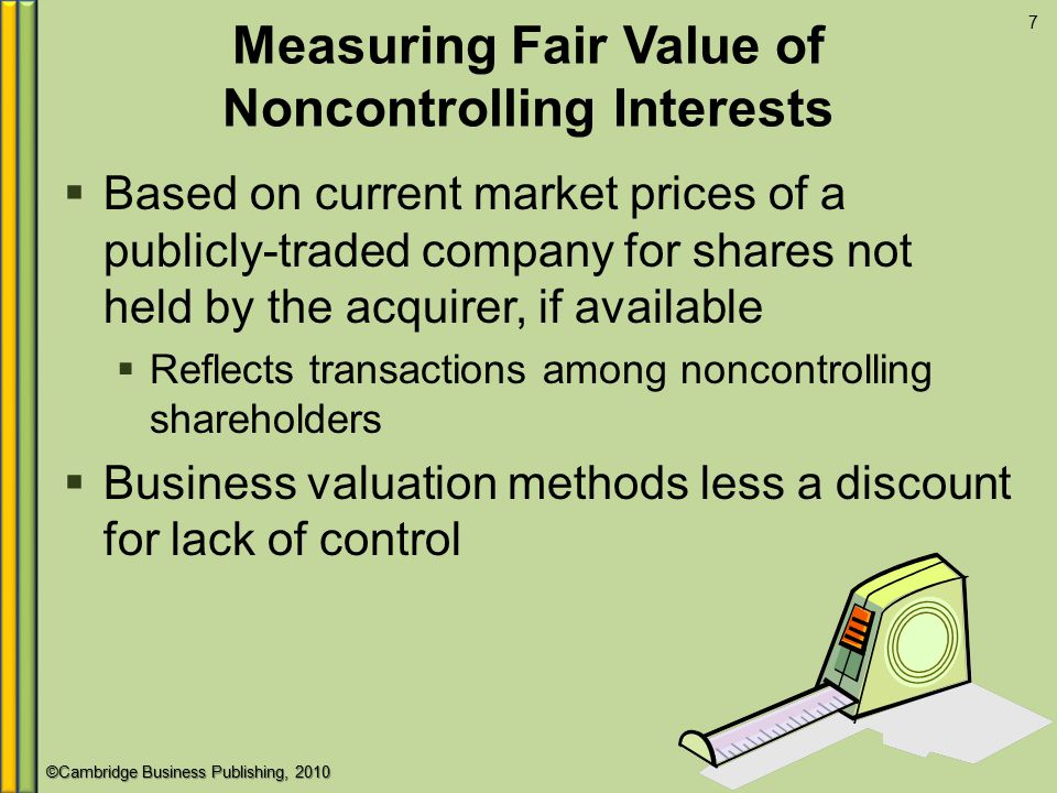 Measuring Fair Value of Noncontrolling Interests