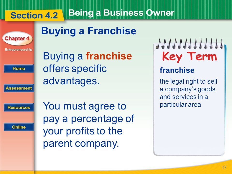 Buying a franchise offers specific advantages.