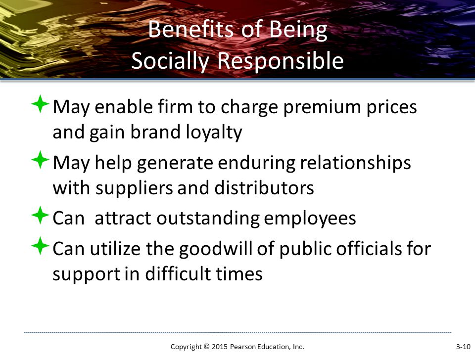 Benefits of Being Socially Responsible