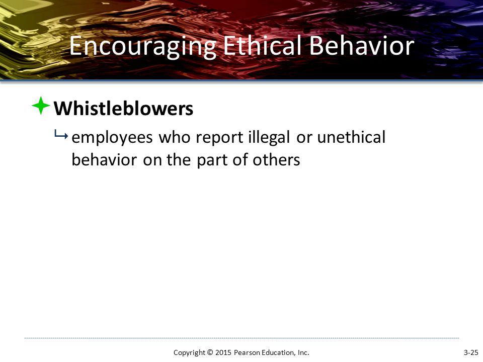 Encouraging Ethical Behavior
