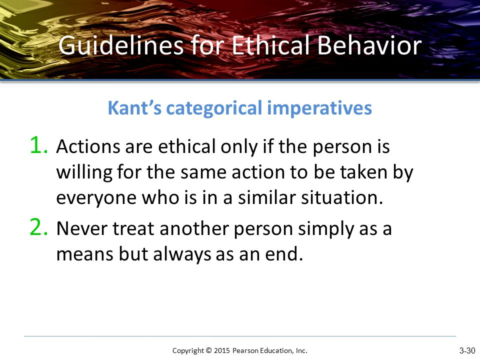 Guidelines for Ethical Behavior