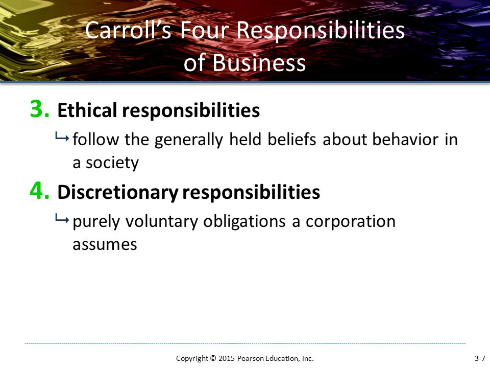 Carroll's Four Responsibilities of Business