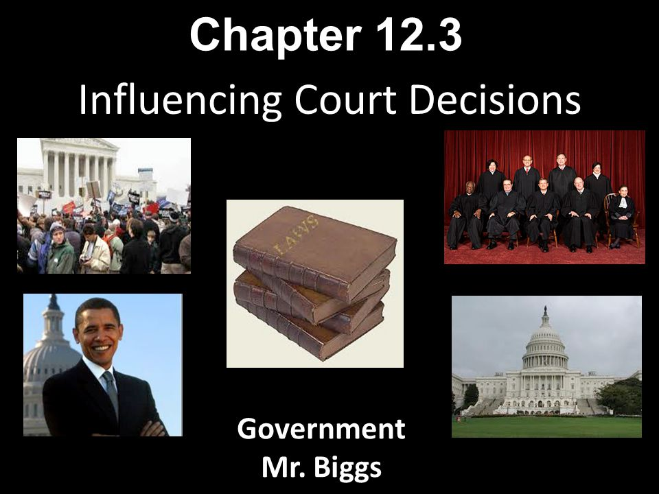 Influencing Court Decisions