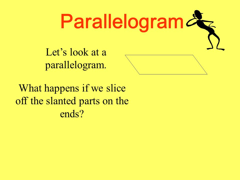 Let's look at a parallelogram.