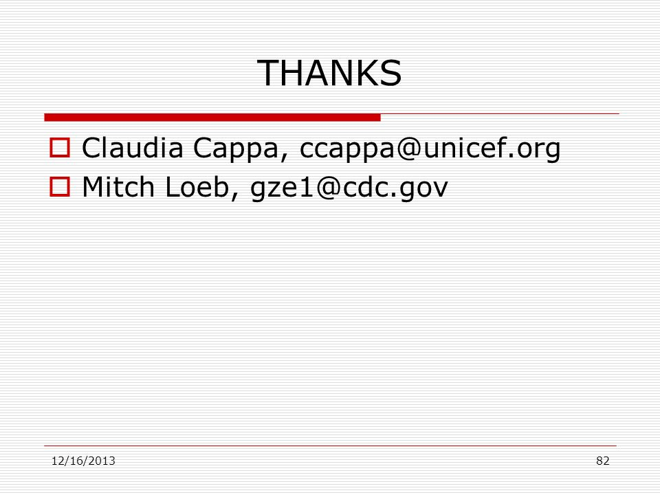 THANKS Claudia Cappa, Mitch Loeb,