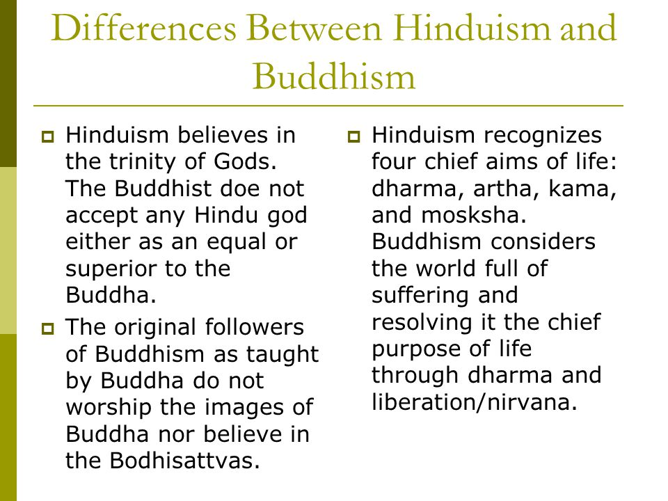 comparison between hinduism and buddhism