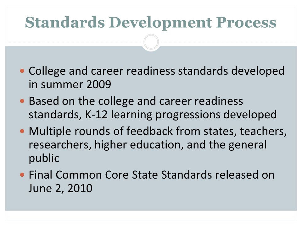 Standards Development Process