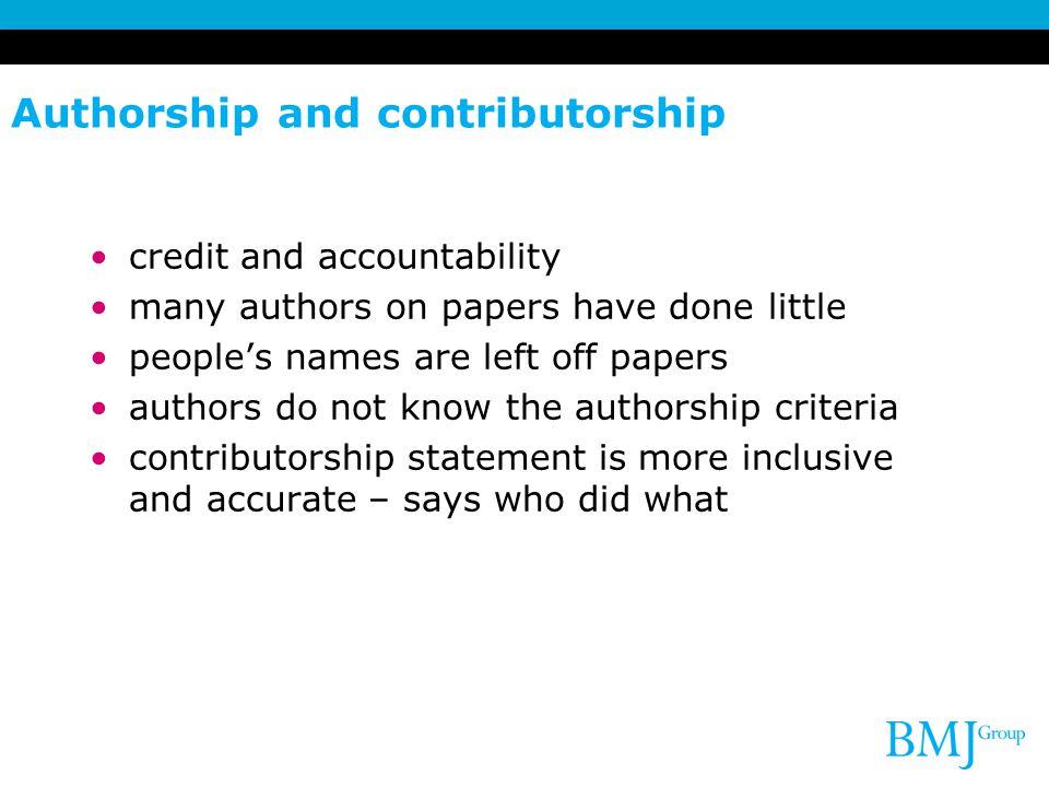 Contributorship statement example case report.