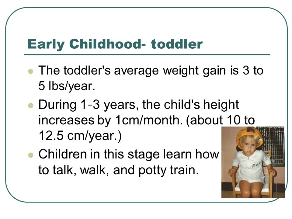 Early Childhood- toddler