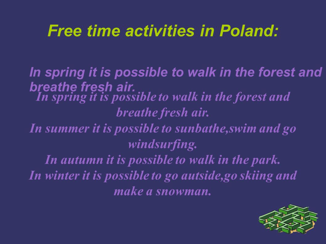 Free time activities in Poland: