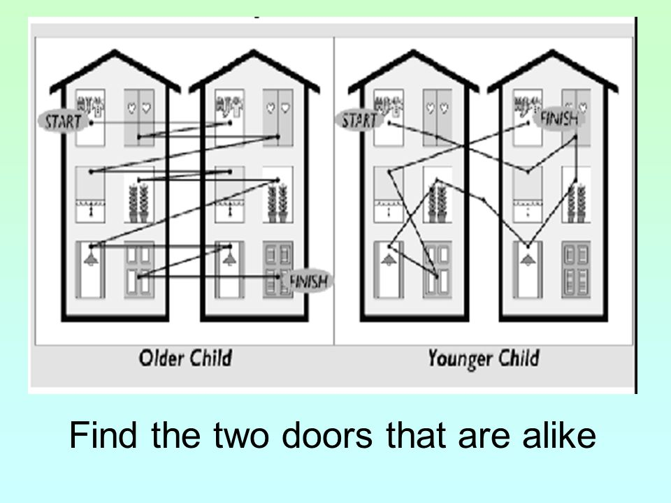 Find the two doors that are alike