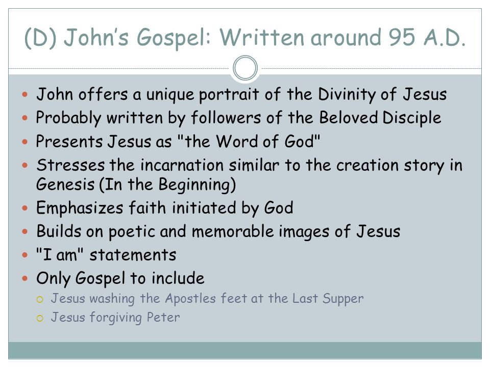 which gospel was written last