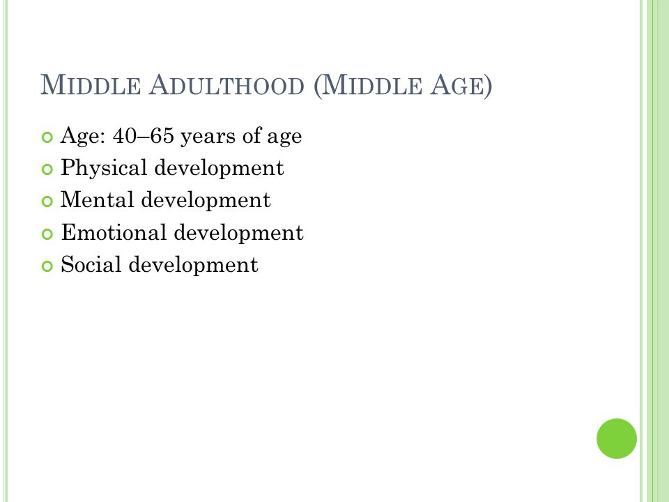 development physical aged Middle adults